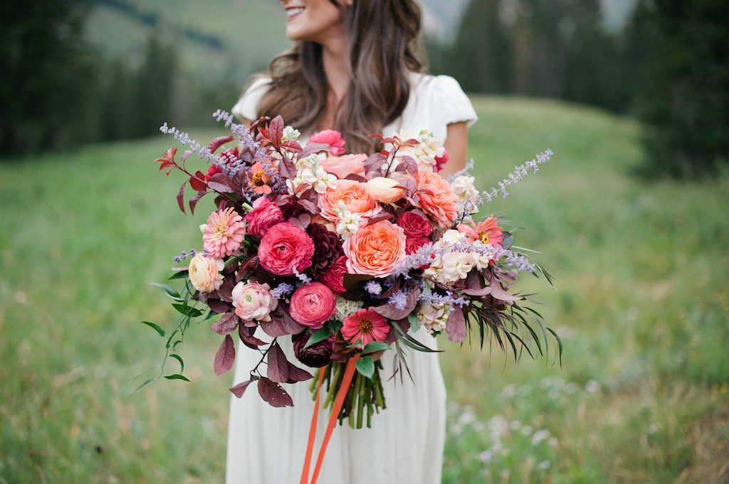 Wildflower Forest Wedding Wedding Flowers Utah Calie