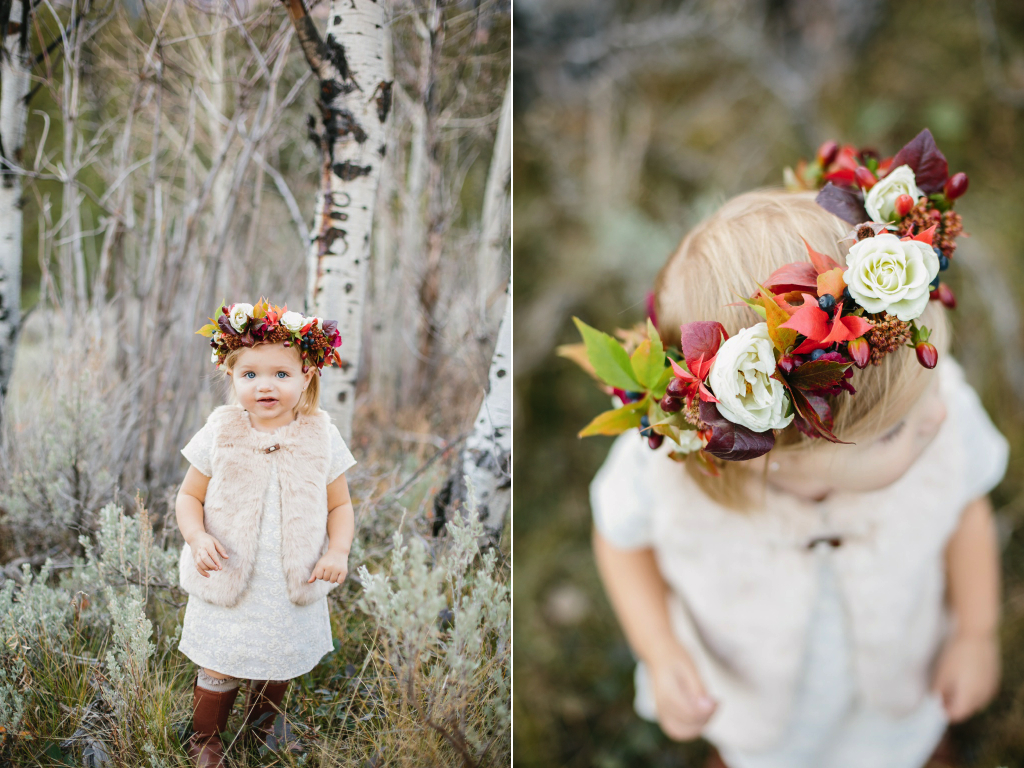 A beautiful flower crown utah wedding florist calie rose calie rose little girl flower crown calie rose utah wedding florist izmirmasajfo