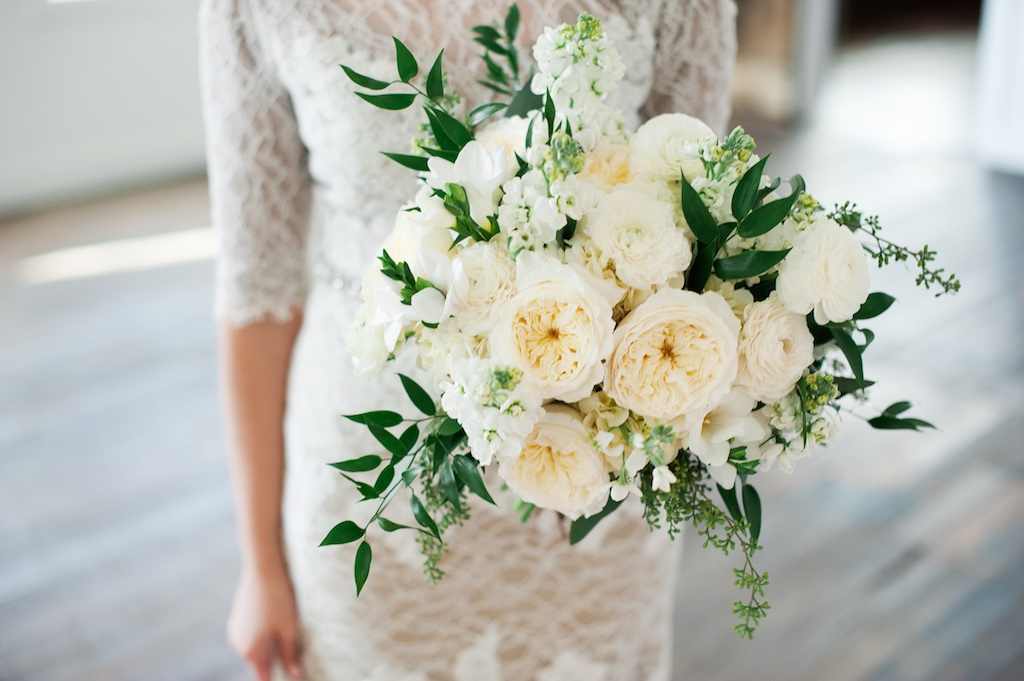 ... White English Garden Rose Wedding Bouquet, Romantic Style White Green  Wedding Bouquet Flowers Utah Florist ...