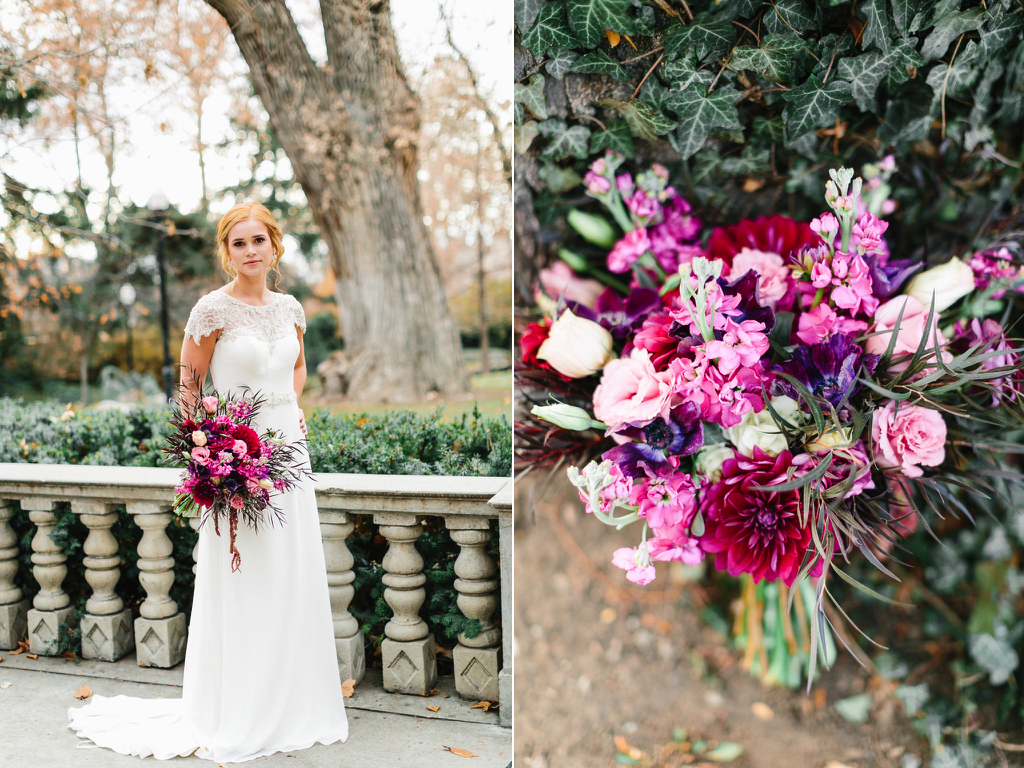 Pink Purple Plum Wedding Bouquet Utah Florist Calie Rose Stunning Bridal Pictures