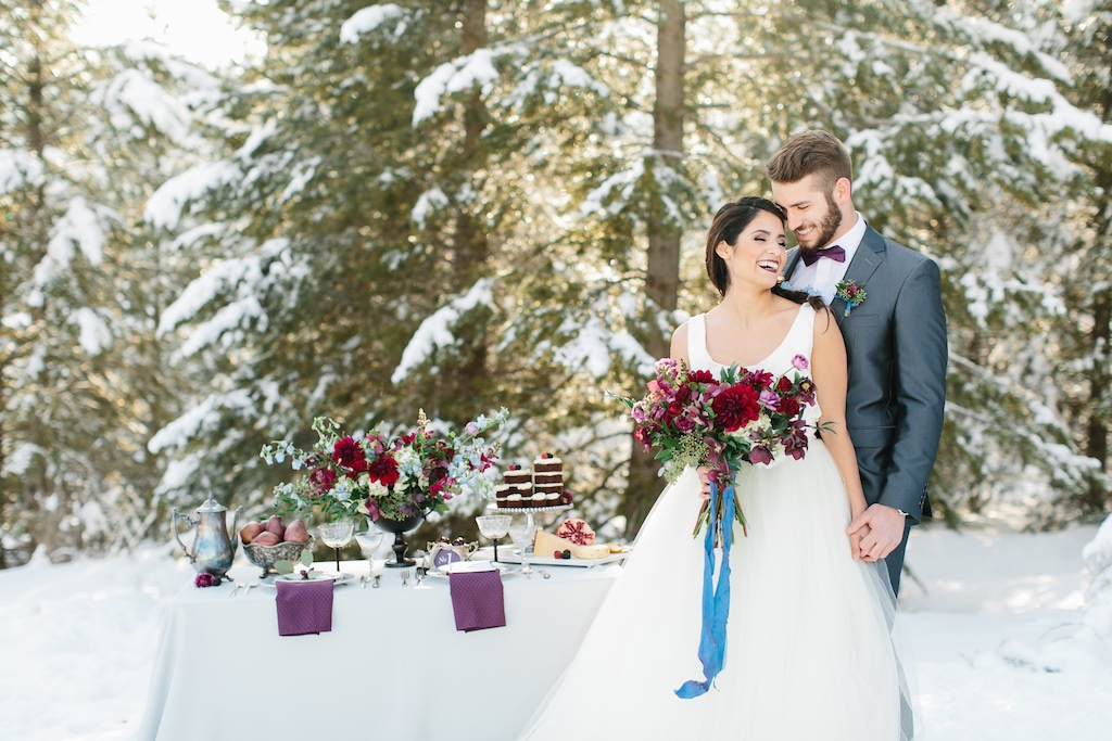 Utah winter wedding