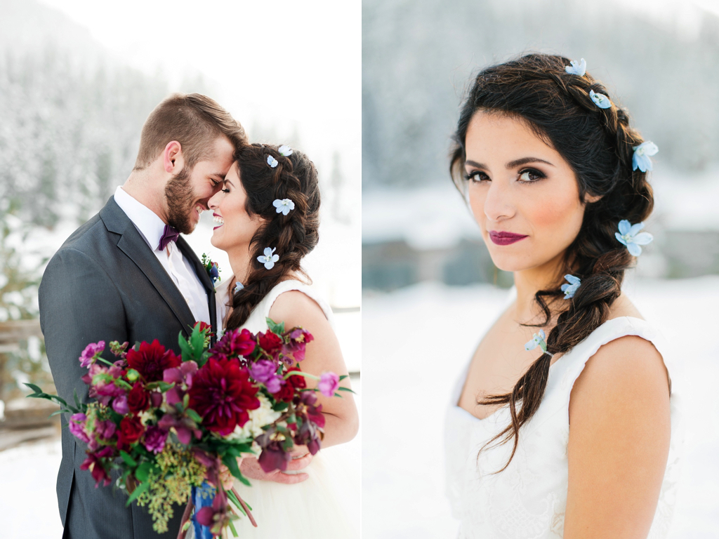 Romantic winter wedding inspiration flowers utah calie rose calie rose stunning winter weddings flowers utah calie rose wine burgundy plum bouquet flowers blue hair flowers wine izmirmasajfo
