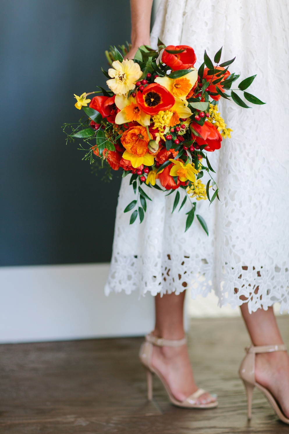 Moroccan Bright Citrus Infused Wedding Flowers Utah