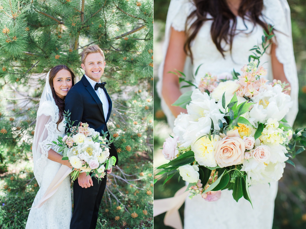 Blush gold wedding flowers at riverside country club provo utah classic blush ivory black wedding ivory blush wedding bouquet flowers inspiration utah calie rose white peony mightylinksfo