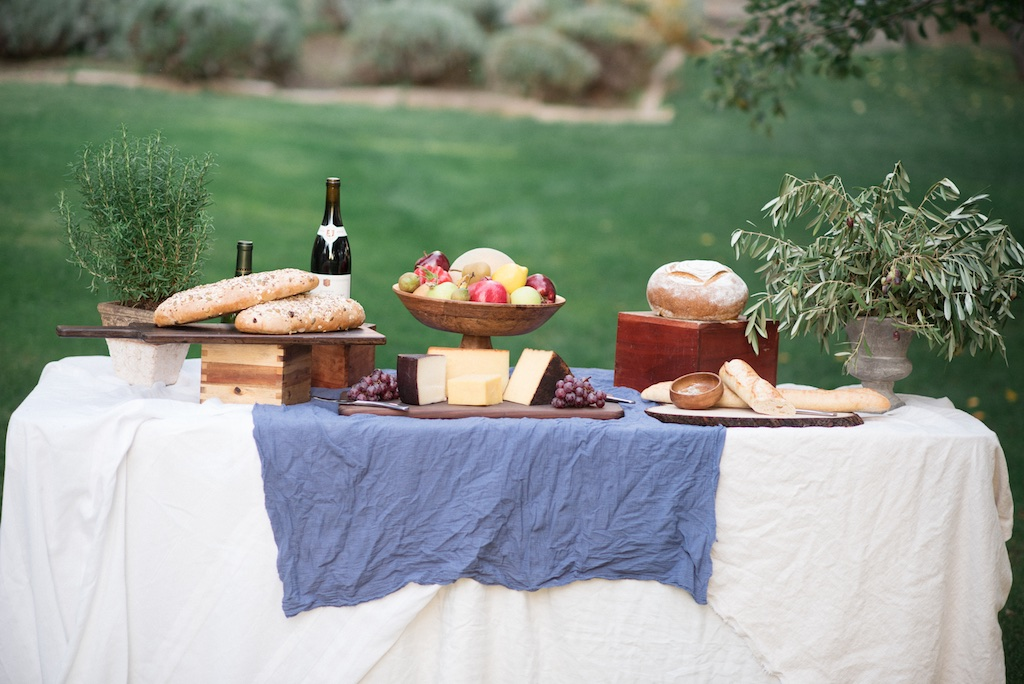 stunning utah weddings, tuscan wedding inspiration, tuscan wedding, italian wedding, italian wedding inspiration, pear orchard wedding,pear wedding, gold blue white green wedding inspiration, culinary crafts wedding food, culinary crafts tuscany wedding, wedding flowers utah calie rose, potted rosemary wedding, potted olive tree wedding