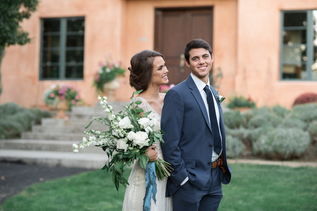stunning utah weddings, vintage car wedding, white green wedding bouquets, white green blue wedding inspiration, tuscan wedding inspiration, cradle bouquet, elongated bouquet, tuscan wedding, italian wedding, italian wedding inspiration,