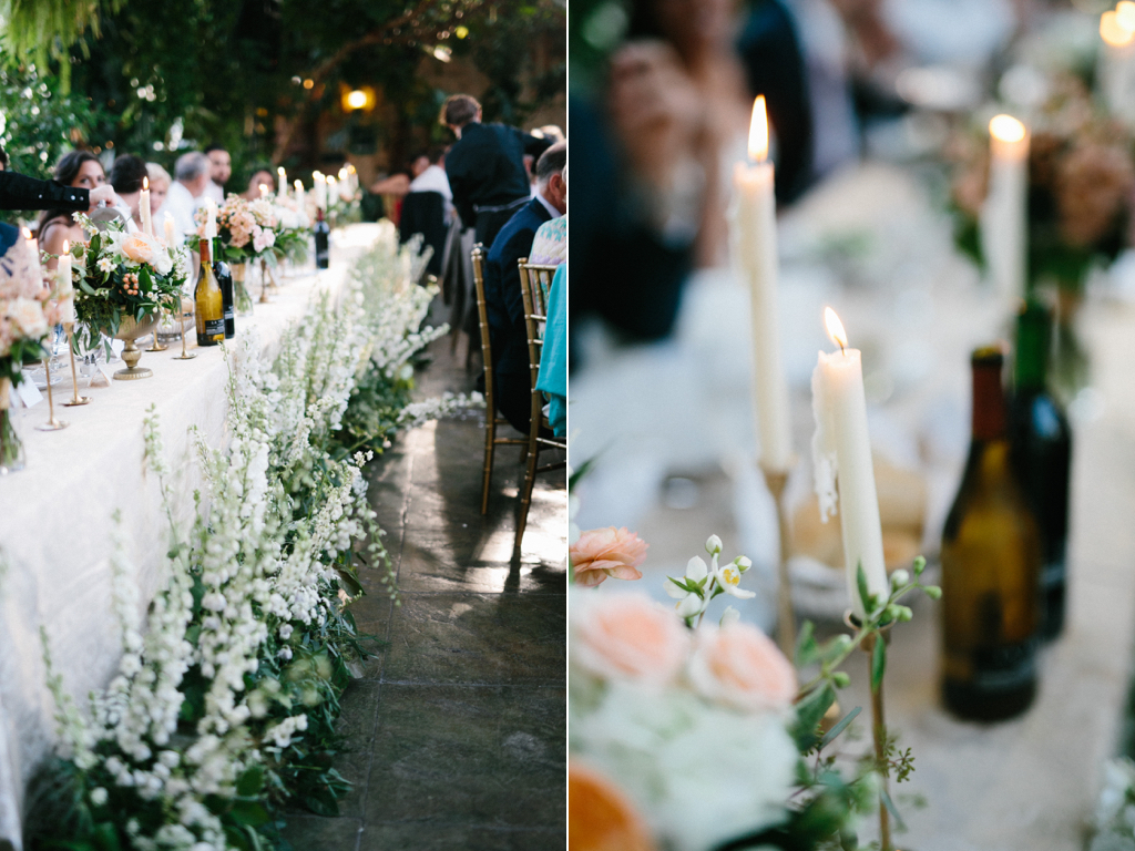 La Caille Utah Summer Wedding, candle lit wedding, head table flower ideas, head table white flowers, head table candles, wedding flowers utah calie rose, jacque lynn photography