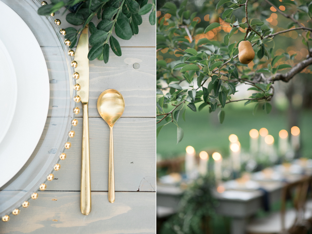 stunning utah weddings, tuscan wedding inspiration, tuscan wedding, italian wedding, italian wedding inspiration, pear orchard wedding, gold flatware wedding, pear wedding, tuscan wedding inspiration flowers utah calie rose