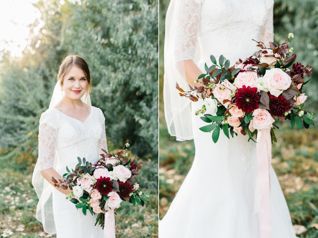 stunning romantic burgundy blush wedding flower bouquets utah calie rose www.calierose.com