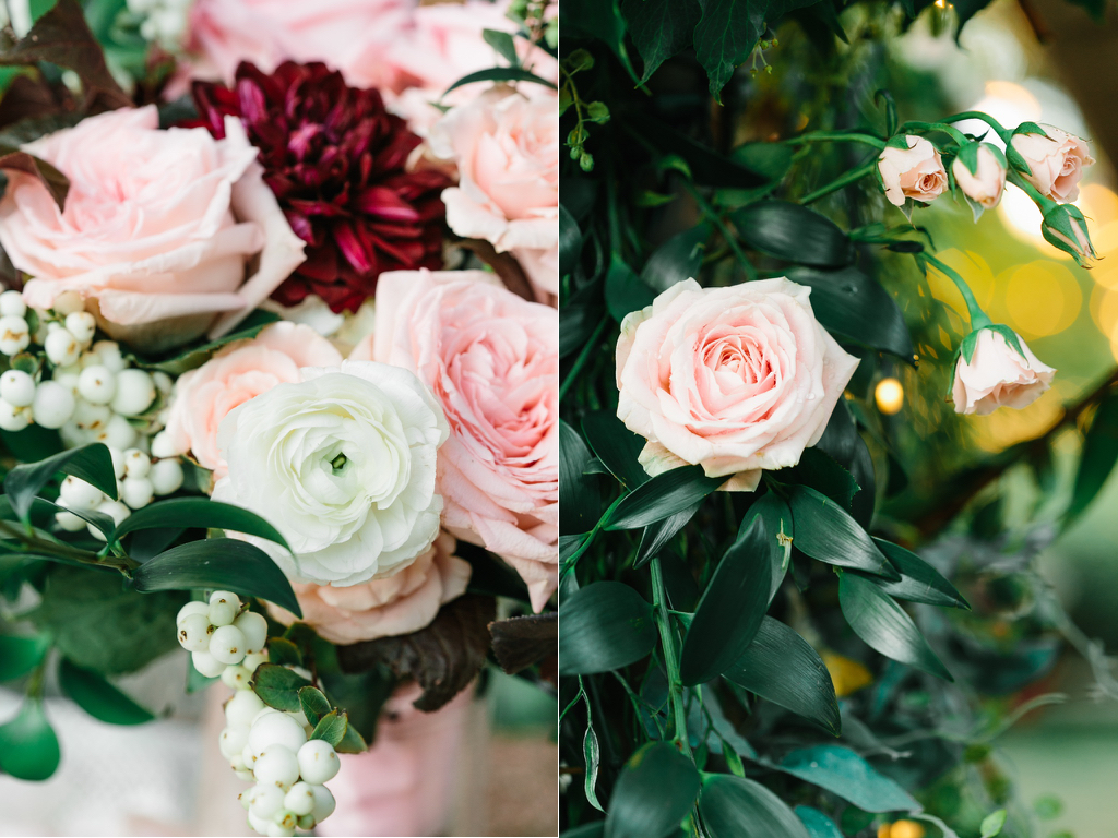 The Bungalow Wedding in Pleasant Grove blush garden rose burgundy ivory wedding flowers inspiration utah calie rose www.calierose.com