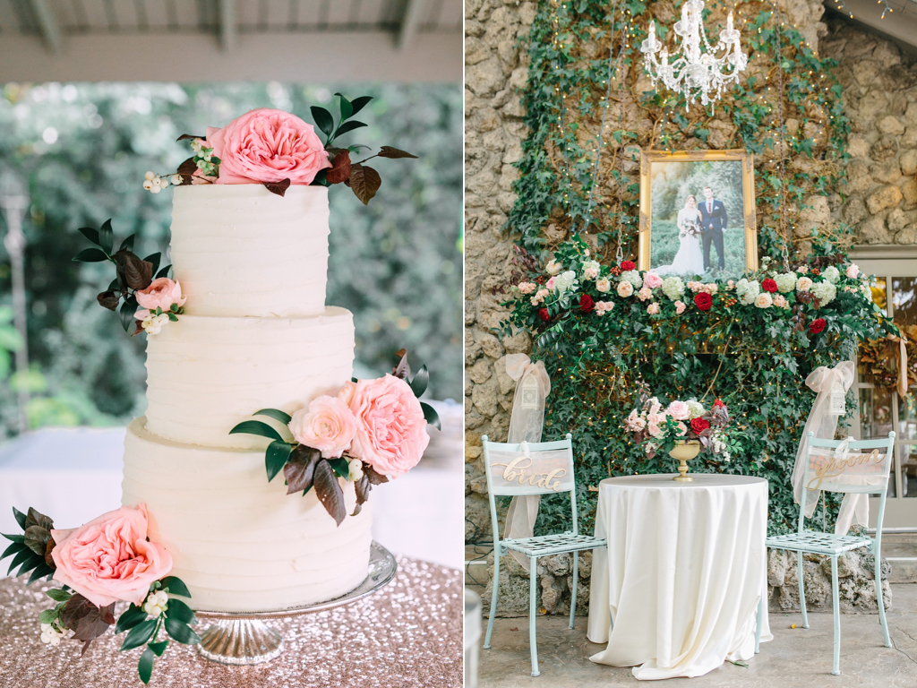 blush garden rose wedding cake flowers fireplace mantel wedding garland flowers utah www.calierose.com