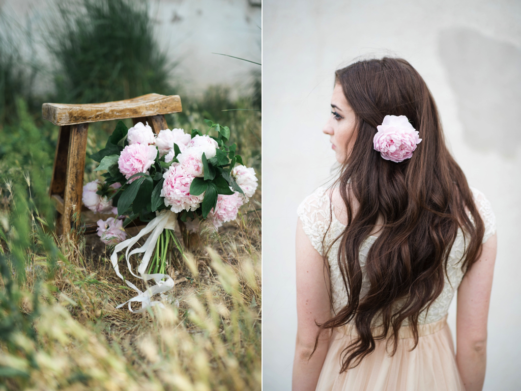 wedding hair flower ideas for brides hair flowers blush peony wedding utah calie rose