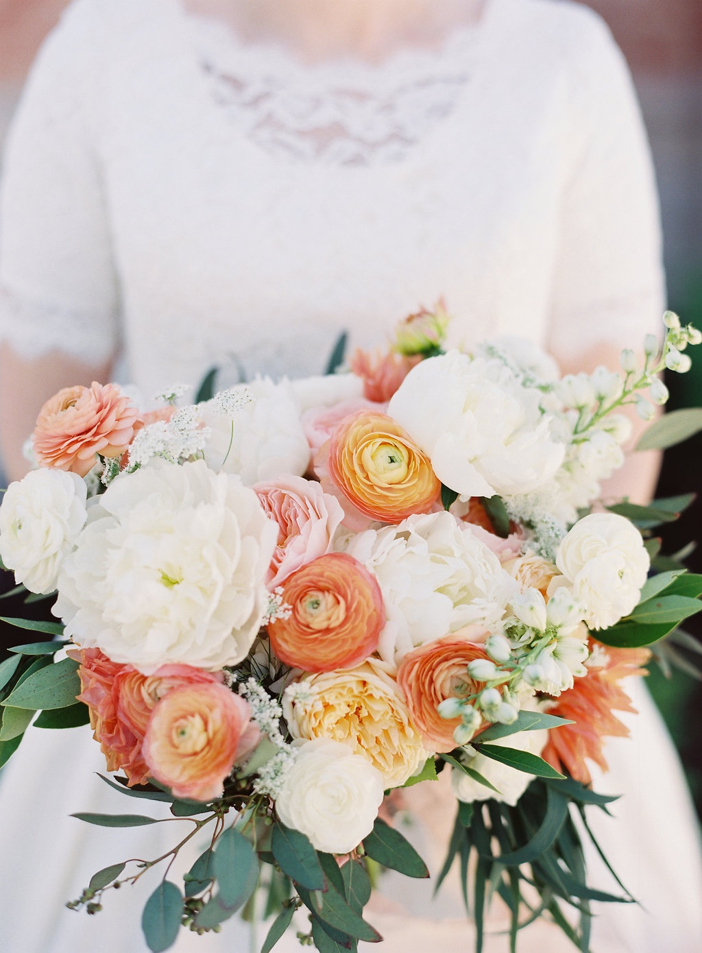 Destination Utah Memorial House Wedding at Memory Grove Flowers Calie Rose peach ivory mint wedding bouquet juliet peach garden rose white peony peach ranunculus wedding bouquet inspiration peach ivory cream mint wedding flowers gorgeous peach wedding bouquets