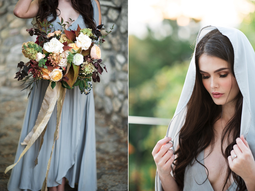 european style wedding flowers inspiration utah calie rose dusty blue wedding dress castle wedding long flowing silk bouquet ribbon gorgeous fall wedding bouquets inspiration