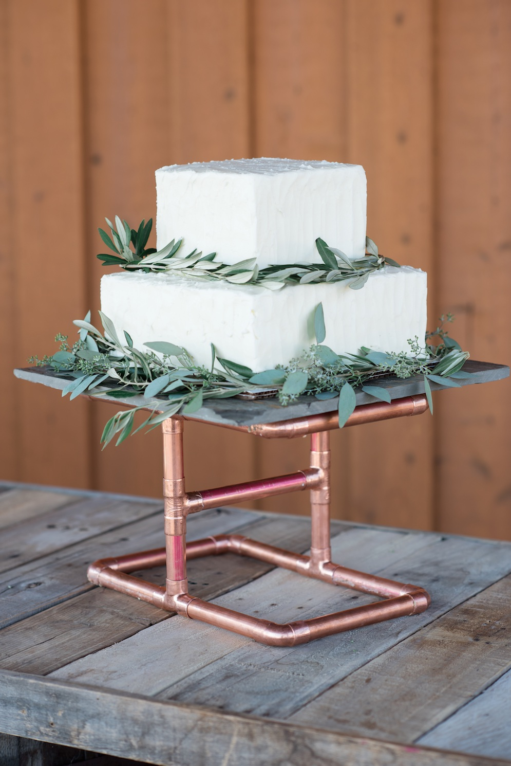Tag Ranch Destination Park City Utah Wedding Flowers Calie Rose pantone color of the year greenery wedding cake russian olive wedding cake copper wedding cake stand modern wedding cake inspiration