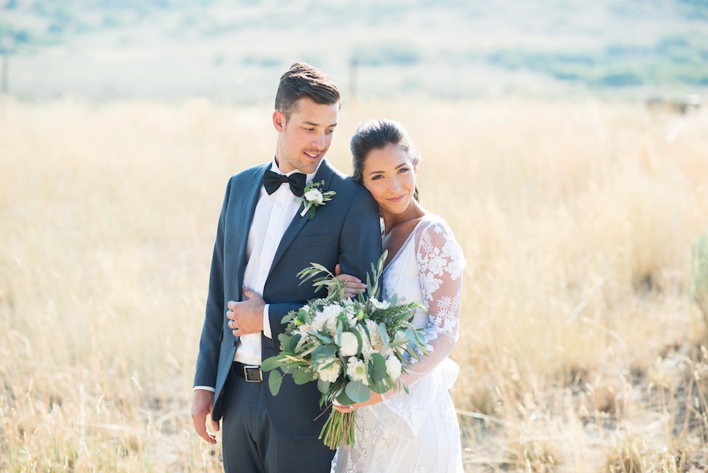 Tag Ranch Destination Park City Utah Wedding Flowers Calie Rose white and green wedding flowers bouquet