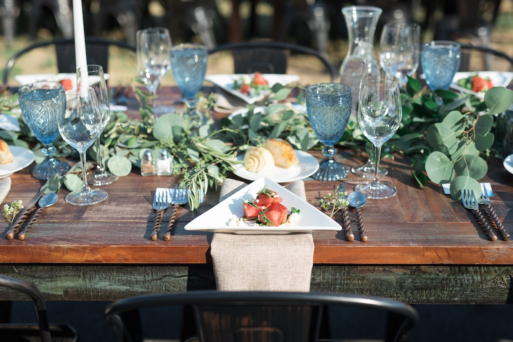 Tag Ranch Destination Park City Utah Wedding Flowers Calie Rose greenery table garland pantone color of the year greenery wedding