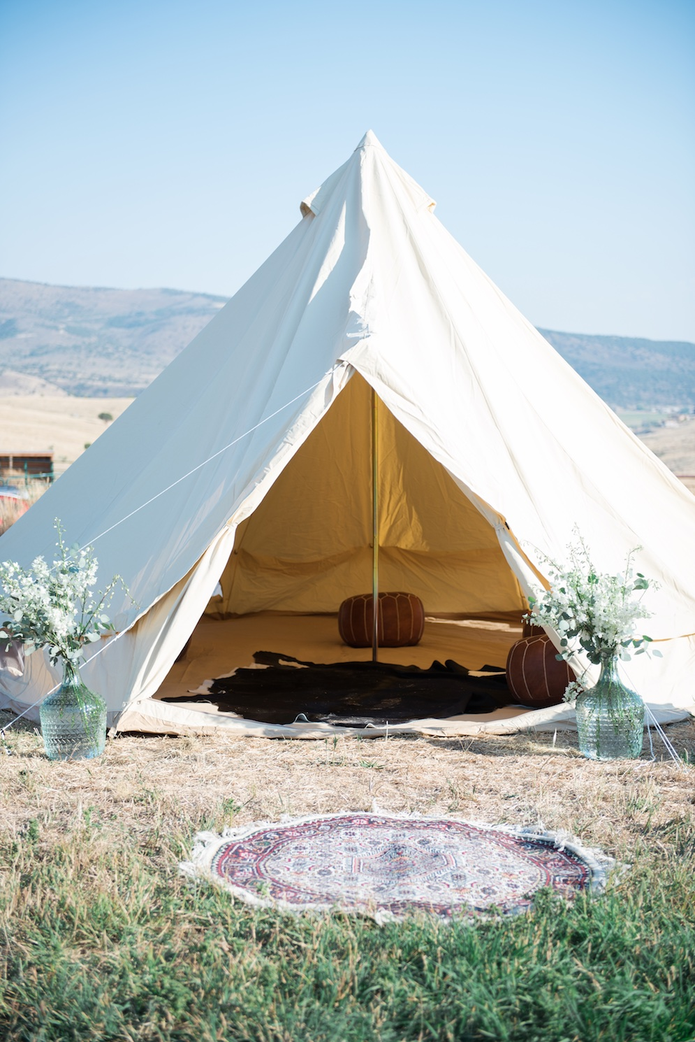 Tag Ranch Destination Park City Utah Wedding Flowers Calie Rose teepee wedding inspiration