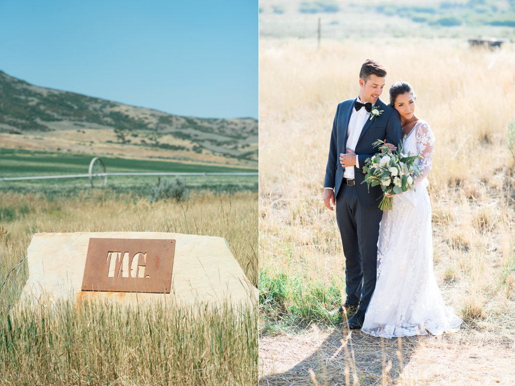 Tag Ranch Destination Park City Utah Wedding Flowers Calie Rose White and green wedding bouquet