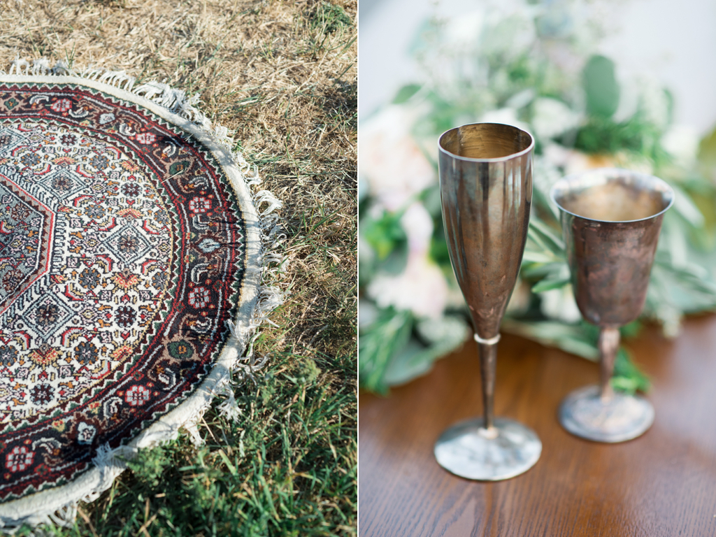Tag Ranch Destination Park City Utah Wedding Flowers Calie Rose pantone color of the year greenery wedding inspiration vintage wedding rug silver goblets
