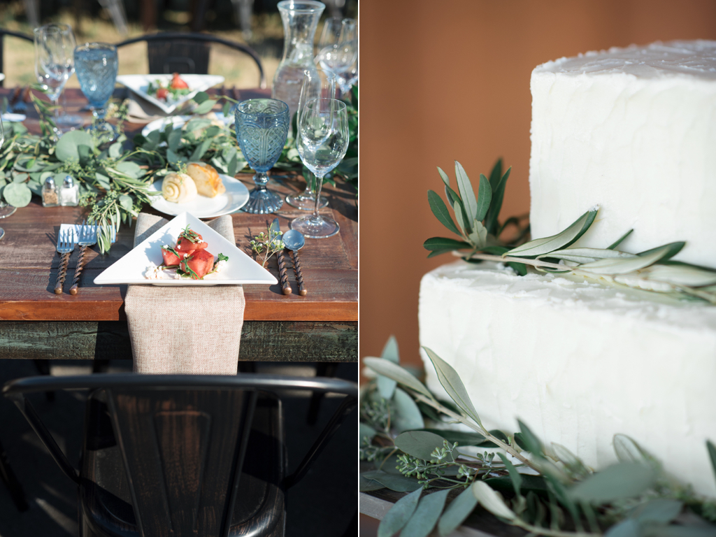 Tag Ranch Destination Park City Utah Wedding Flowers Calie Rose pantone color of the year greenery wedding inspiration greenery table garlands modern ranch wedding lush green table garlands russian olive wedding cake