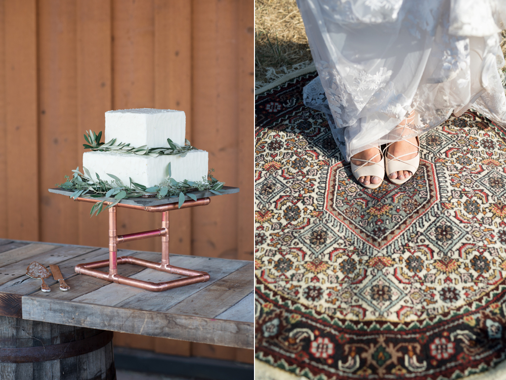Tag Ranch Destination Park City Utah Wedding Flowers Calie Rose vintage area rug wedding modern wedding cake copper cake stand russian olive cake