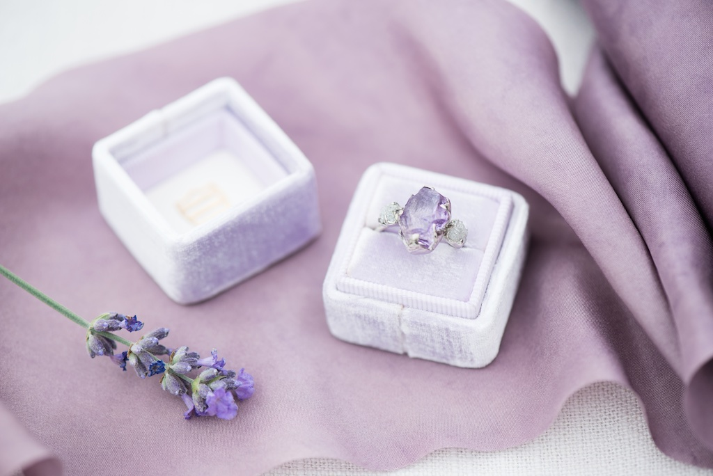 South of France Wedding, lavender wedding ideas, amethyst wedding ring ideas utah calie rose