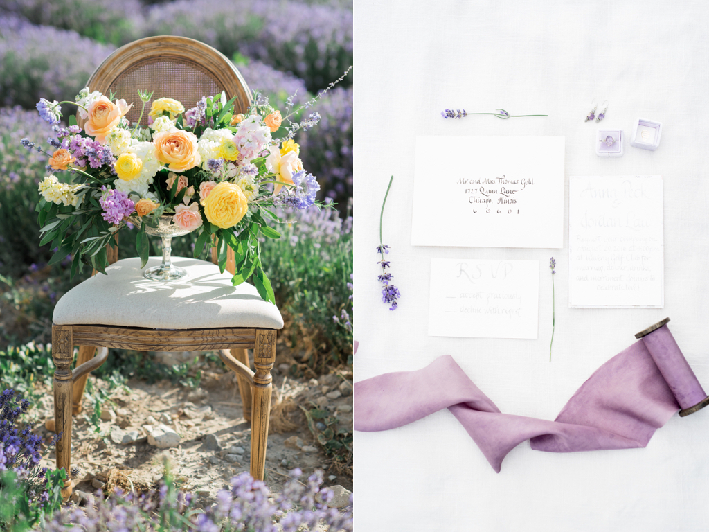 South of France Wedding, lavender field wedding, lavender wedding ideas, lavender inspired wedding, wedding flowers utah calie rose, stunning summer centerpieces