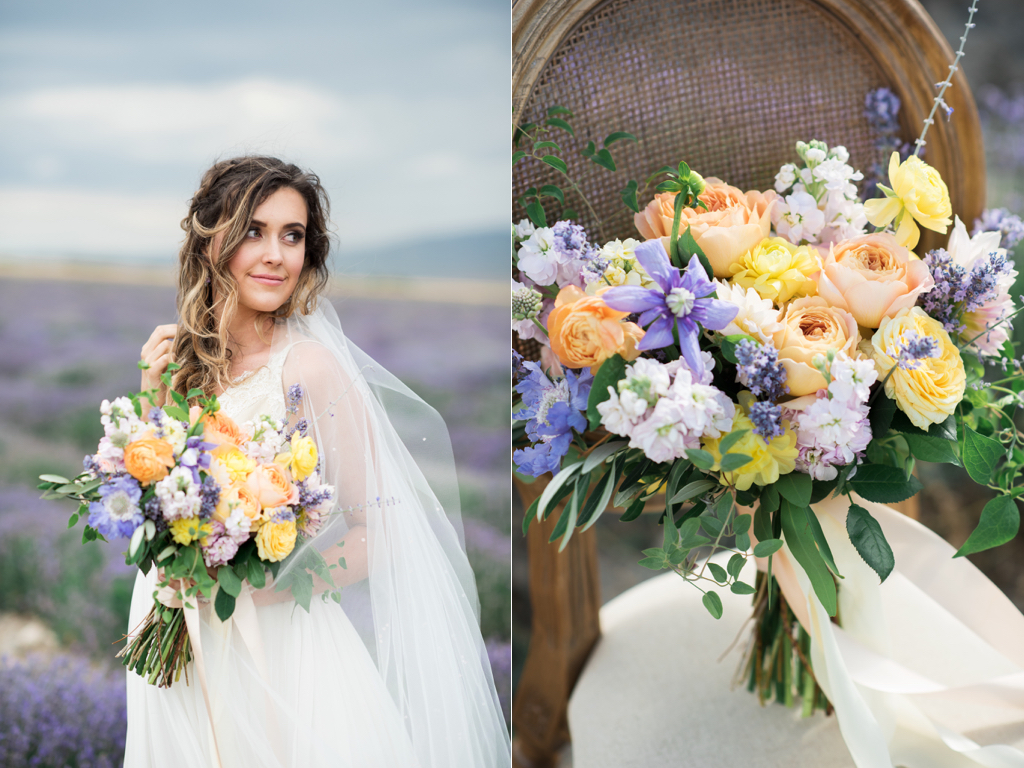 South of France Wedding, lavender field wedding, lavender wedding ideas, lavender inspired wedding, wedding flowers utah calie rose, stunning summer wedding bouquets, kristina curtis photography