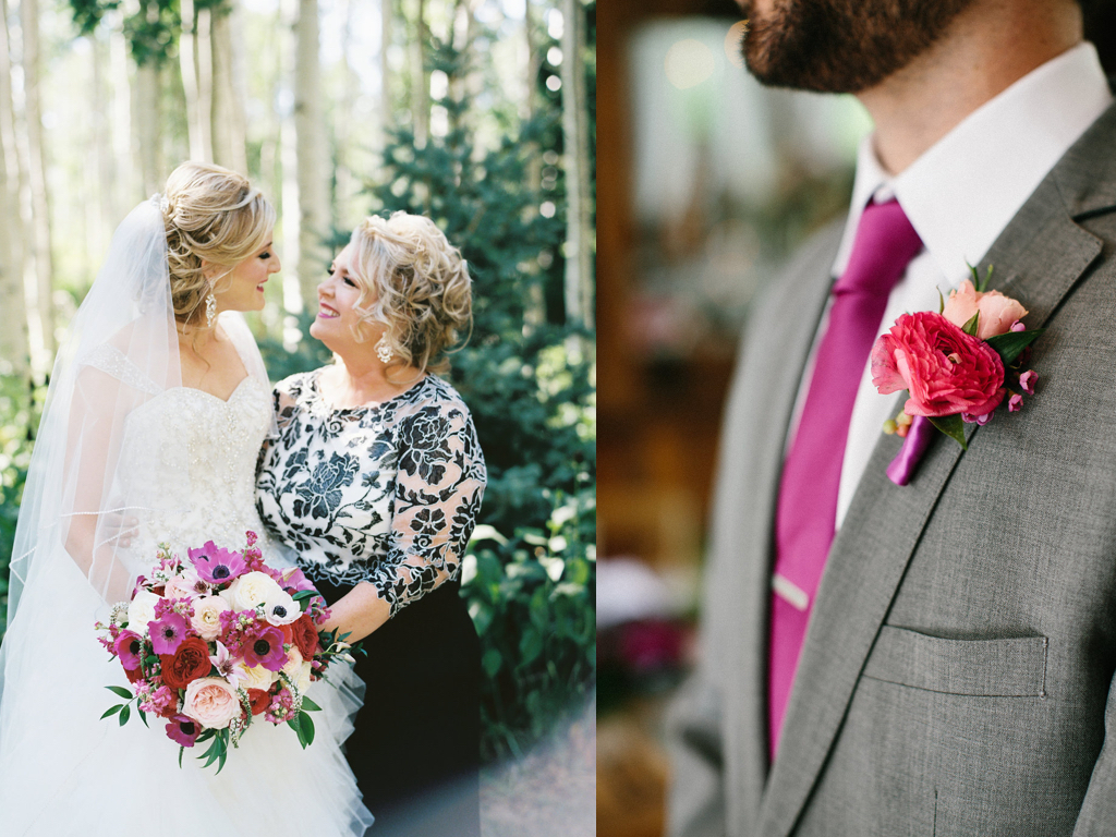 fuchsia wedding flower ideas, destination park city utah wedding calie rose
