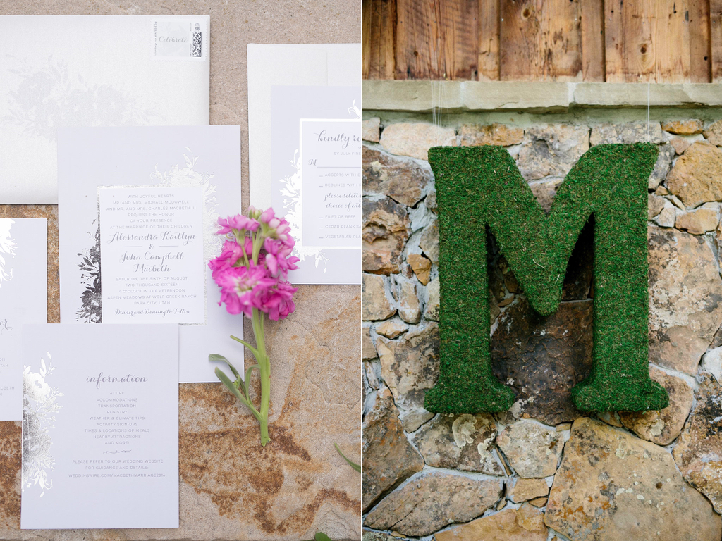 monogram moss wedding letters calie rose utah