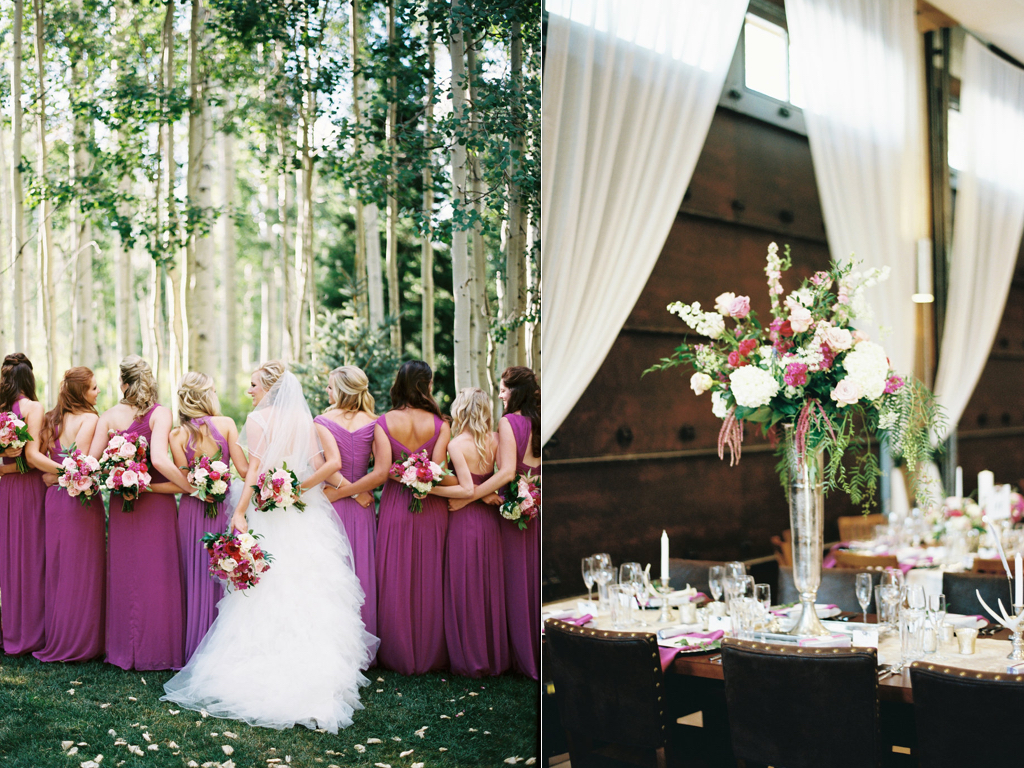 aspen meadows at wolf creek ranch destination park city utah wedding flowers calie rose Restoration Hardware inspired wedding