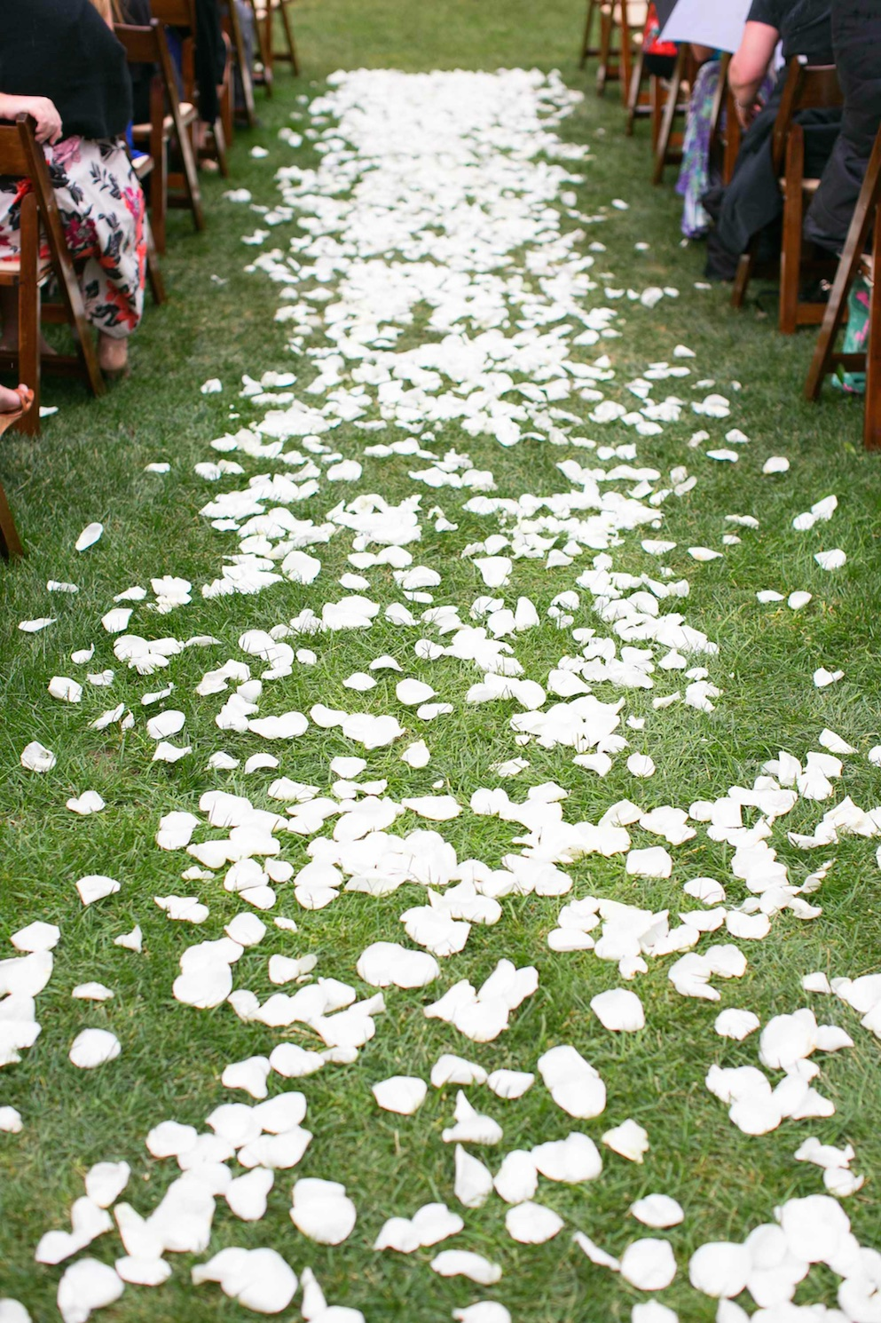 white rose petal ceremony aisle calie rose