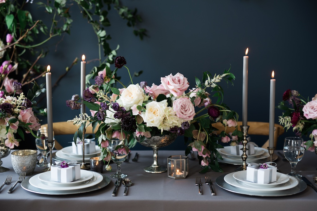 gorgeous moody wedding centerpieces utah calie rose