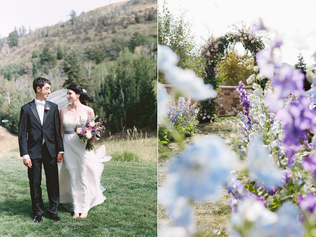 Blue Ceremony Flower Arch Arches Beautiful Stunning English Bouquets St Regis Deer Valley Summer Wedding Park City
